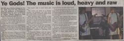 Christopher Fielden Newspaper Article - Ye Gods - Mercury November 11th 2004