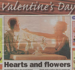 Christopher Fielden - Valentines Day Article - Mercury February 3rd 2005