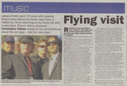 Christopher Fielden - Vic Du Monte Article - Bristol Evening Post September 29th 2005