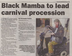 Chris Fielden - Portishead Carnival Newspaper Article - Mercury March 30th 2006