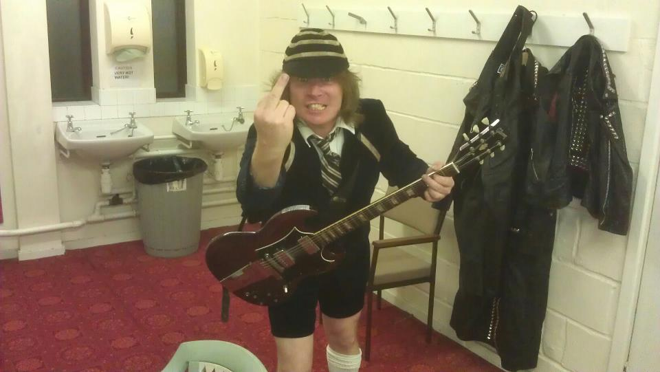 Anus Old Angus Young ADHD ACDC Tribute Band