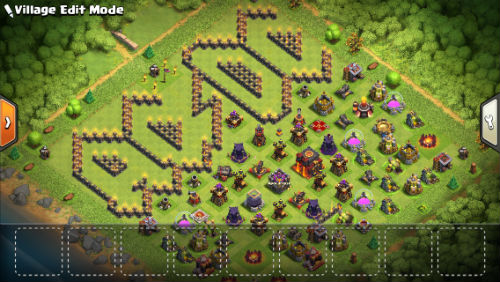 AC/DC Clash of Clans base - scout view