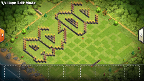 AC/DC Clash of Clans base - walls only