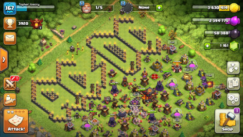 Clash of Clans AC/DC base