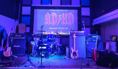 AD/HD band set up on stage