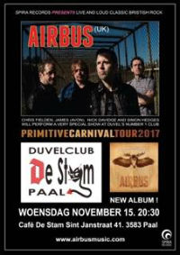Airbus at Cafe De Stam, Paal, Belgium gig poster