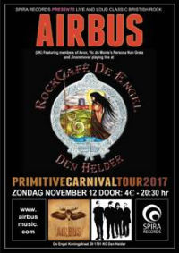 Airbus at Rock Cafe De Engel, Holland gig poster