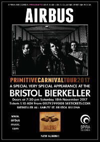 Airbus at the Bierkeller, Bristol, UK gig poster