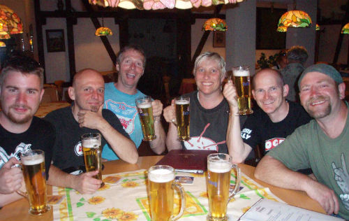 Bikers in the Black Forest in Germany