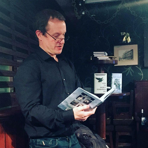 Christopher Fielden reading at InkTears book launch