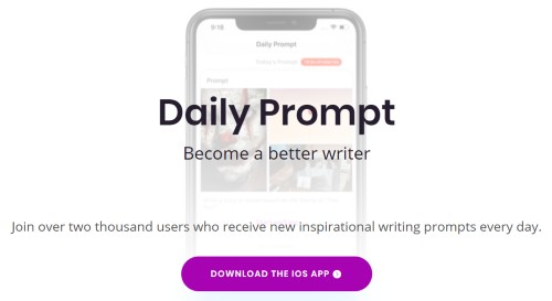 Daily Writing Prompts App