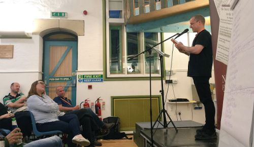 Chris Fielden Reading at the Flash Fiction Festival