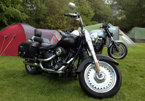 Harley Davidson Fatboy with Panniers