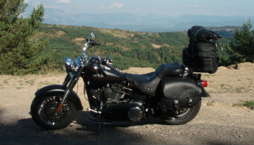 Harley Davidson Fatboy in Spain