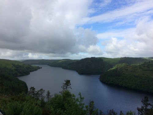 Llyn Brianne Reservoir in the Cambrian Mountains in Wales
