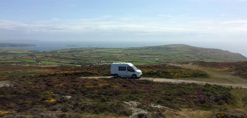 Mobile Writing Office on the Llŷn Peninsula