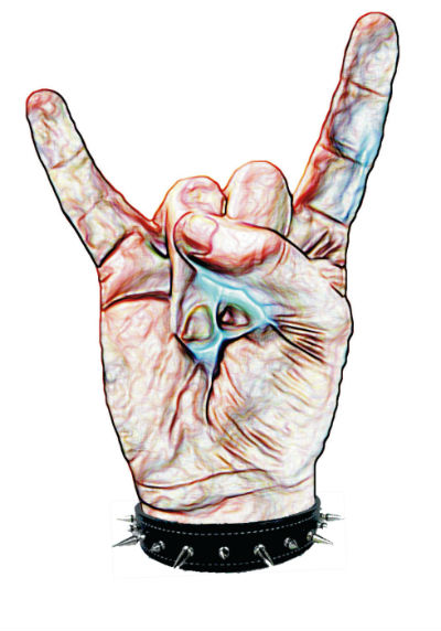 metal hand, metal horns, devil hand sign, sign of the horns