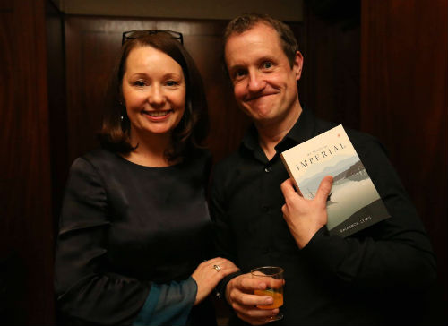 Rhiannon Lewis and Christopher Fielden at Victorina Press book launch