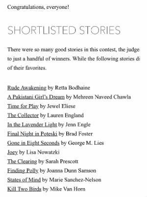 Short Listed