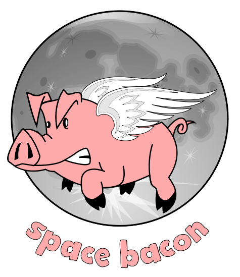 Space Bacon Logo