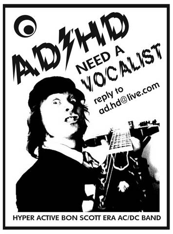 AD/HD vocalist advert