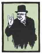 Heavy Metal Hand Sign Winston Churchill patch