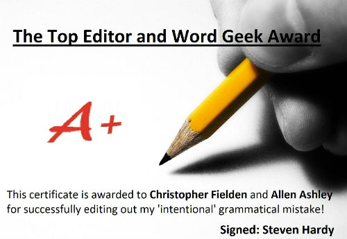 Word Geek Certificate
